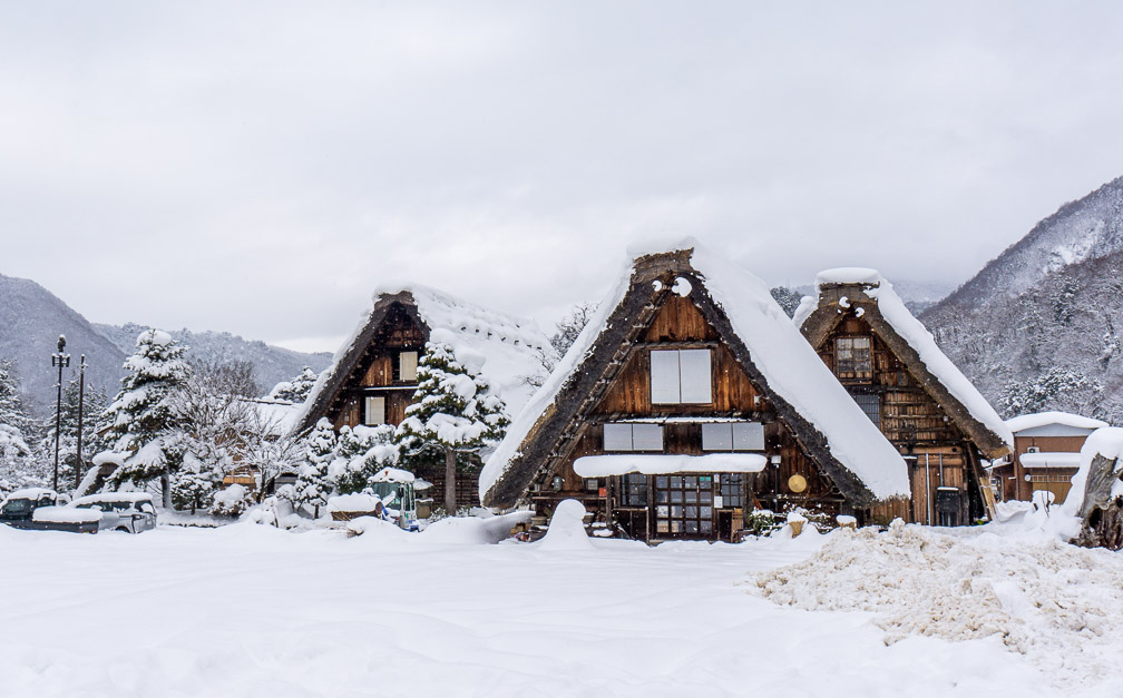 Gasshō-zukuri houses in Shirakawa-Gō. Photo: Daniel