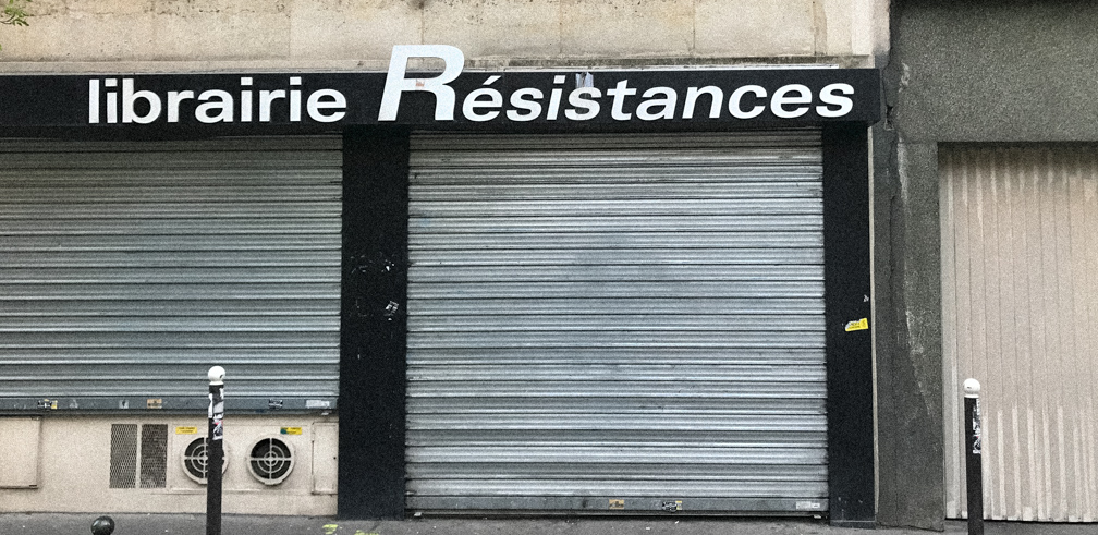 Shuttered stores in Paris. Photo: Daniel