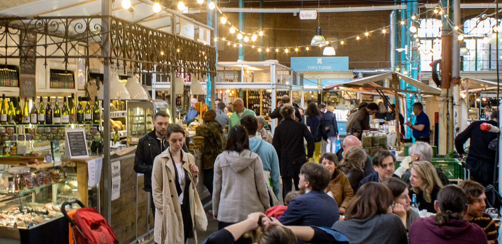 A busy day in the Markthalle. Photo: Daniel